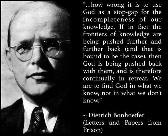 Bonhoeffer on Gaps