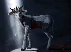 seven horned seven eyed slain alive lamb